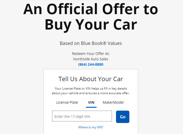 Custom Forms Auto Dealer Website Example