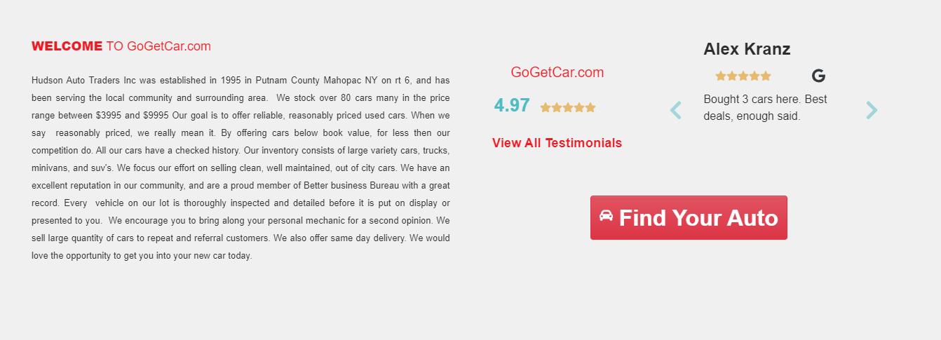 Car Dealer Website Software Testimonials