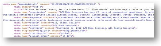 Meta Tags Example
