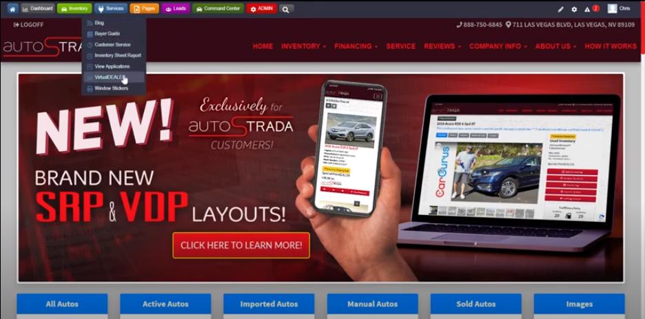 Virtual Dealer Dealership Website Dashboard