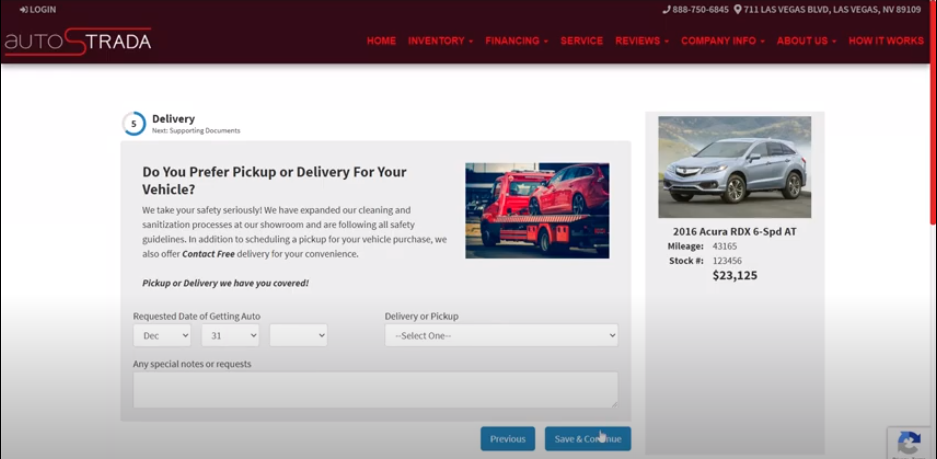 Virtual Dealer Car Delivery Options