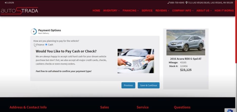 Online Car Sales Payment
