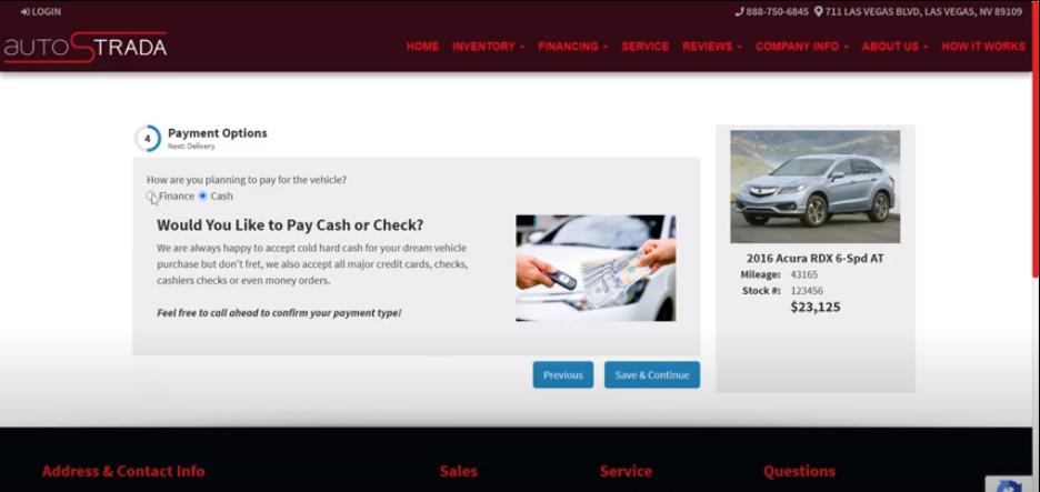 Online Car Sales Payment