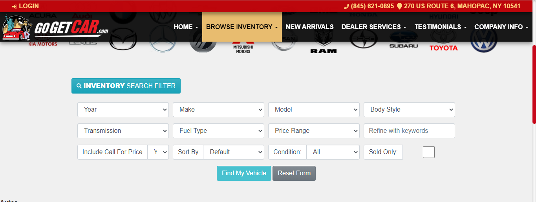 Auto Dealer Website Software Inventory