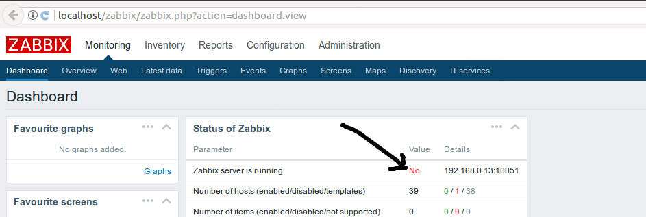 Zabbix server is running