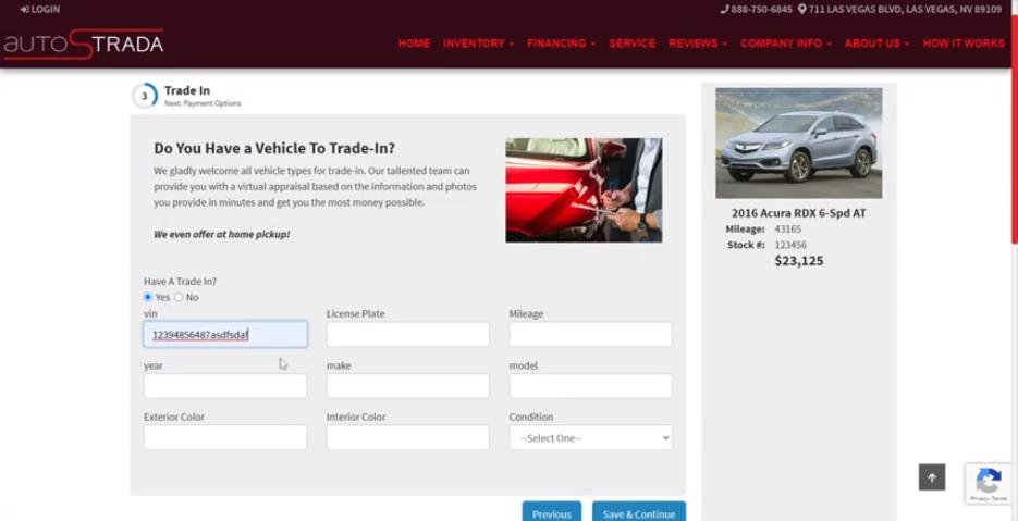Virtual Dealer Online Trade Ins