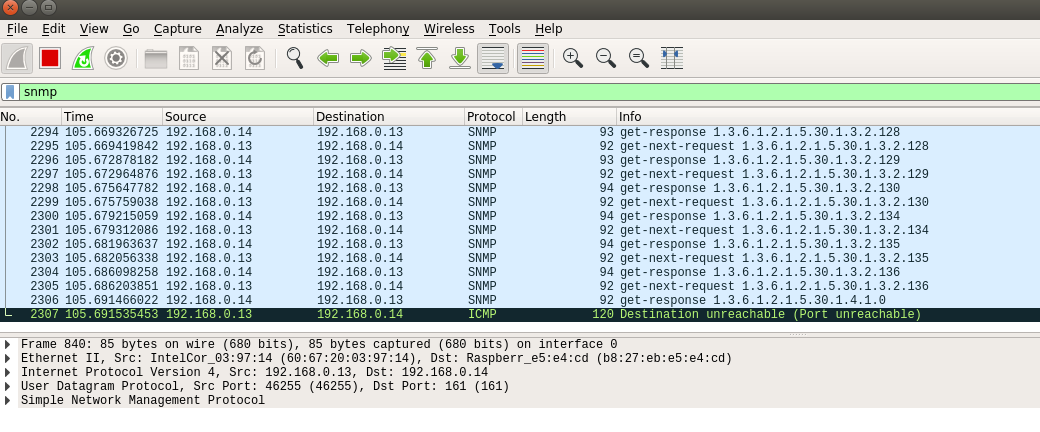 snmp traffic wireshar