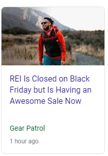 How to Stand out on Black Friday Example: REI