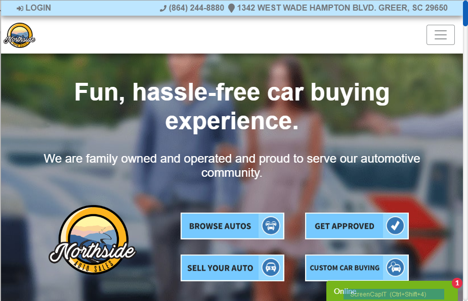 Conversion Optimized Auto Dealer Website Example 1