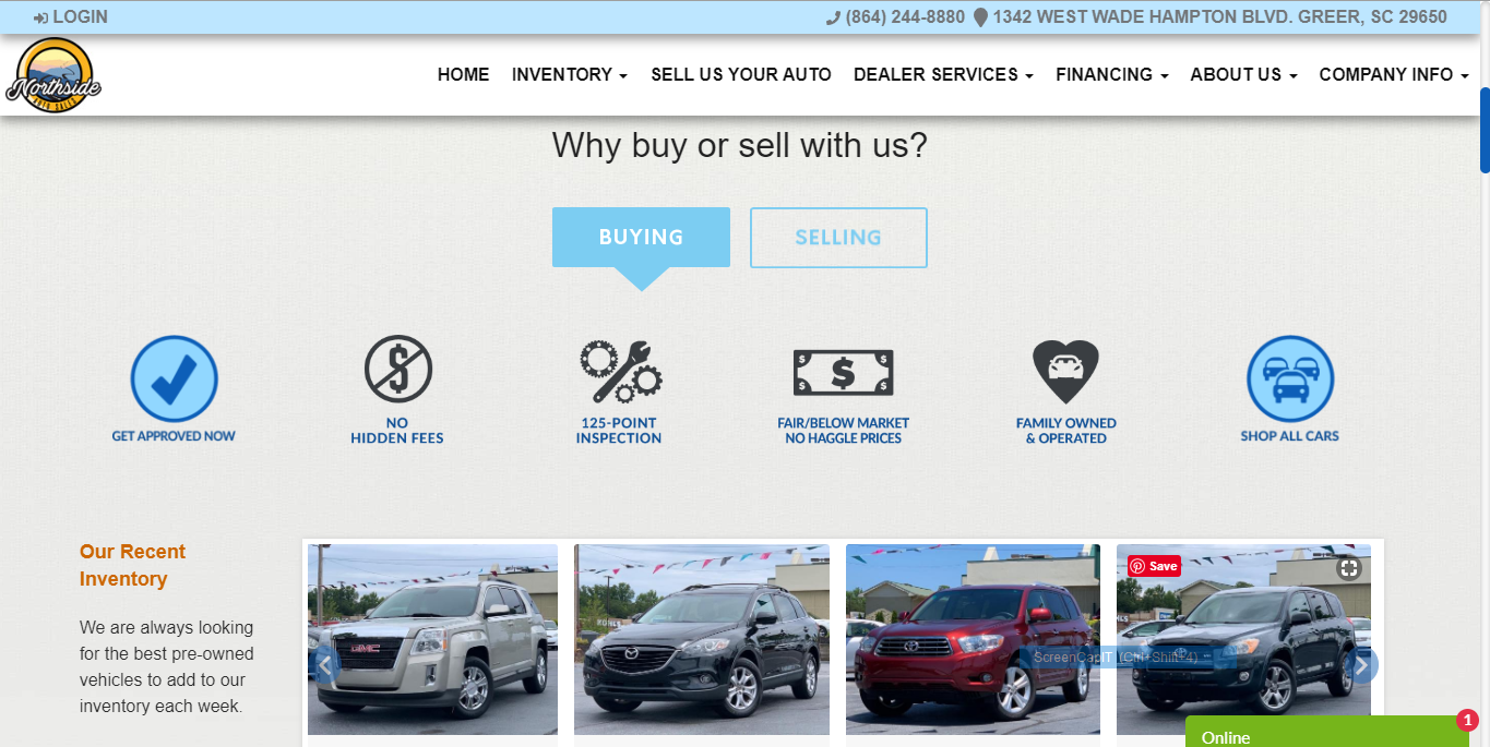 Conversion Optimized Auto Dealer Website Example