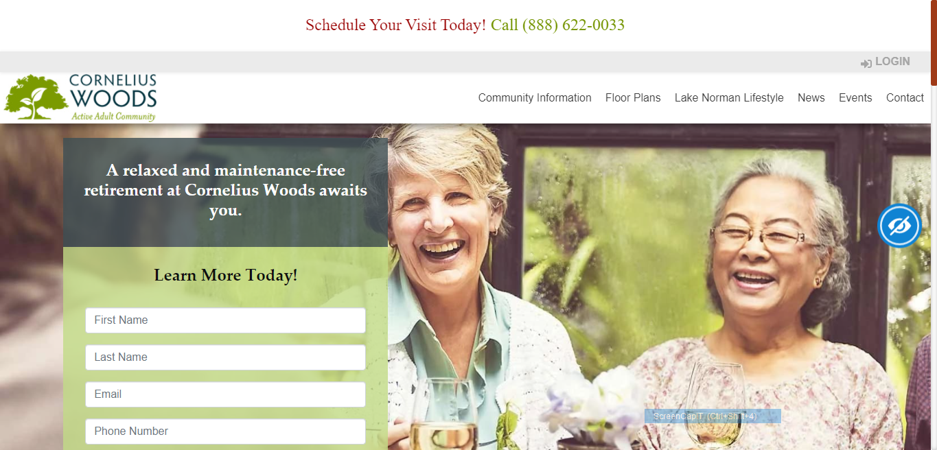 Website homepage images example
