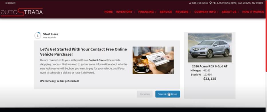 Virtual Dealer Sell Cars Online Step 1