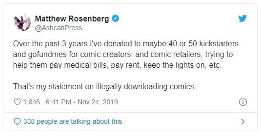 Comic Book Piracy Argument: Michael Rosenburg